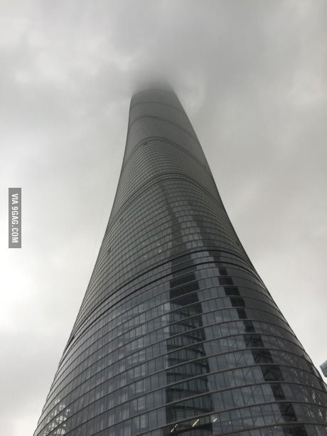 Recent trip to Shanghai! Tower above the clouds!