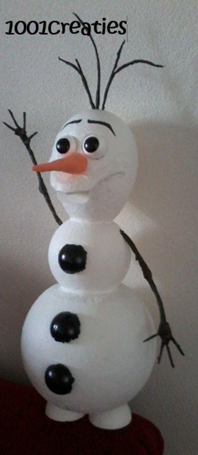 Olaf van Frozen blijft leuk, ook als surprise! De originele werkbeschrijving vind je op http://www.1001creaties.blogspot.com