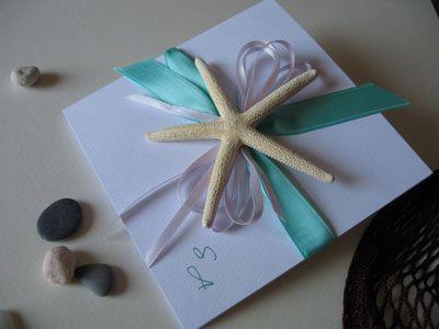 Idee per partecipazioni di nozze in primavera/estate - stile mare