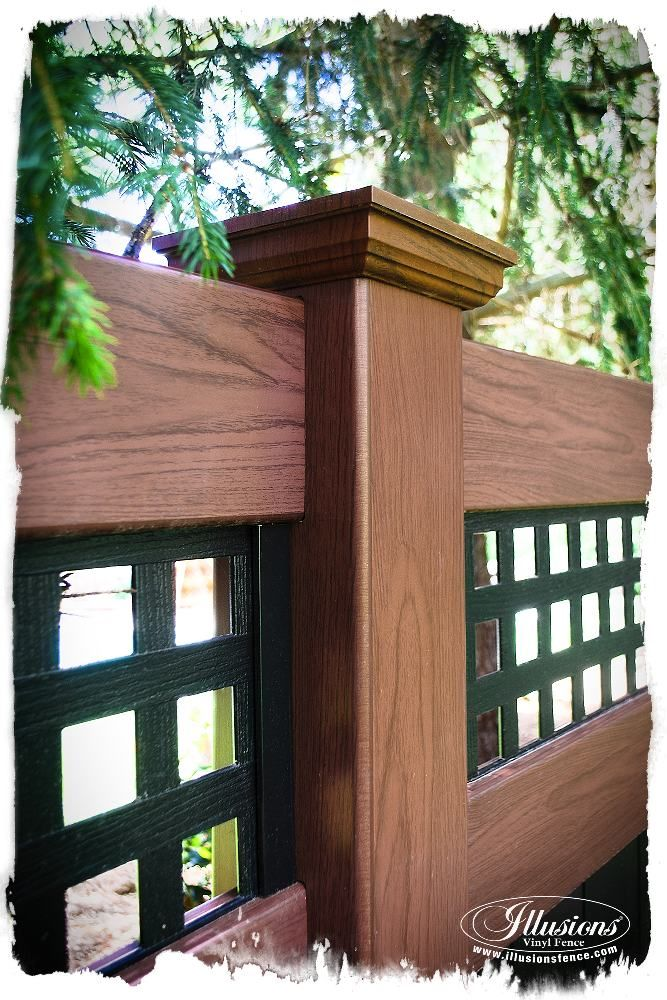 rosewood and black pvc vinyl privacy fence
