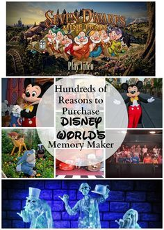 Disney World Memory Maker Tips