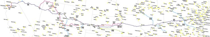 Best US HIGHWAY Images On Pinterest Coast In America And - Us highway 50 map