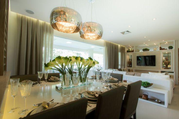 Sala de jantar - Apartamento Decorado 160m² - Cyrela #quitetefaria
