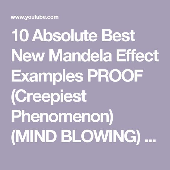 10 Absolute Best New Mandela Effect Examples PROOF (Creepiest Phenomenon) (MIND BLOWING) 2016 - 2017 - YouTube