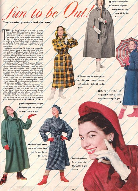 Rainwear - November 1950