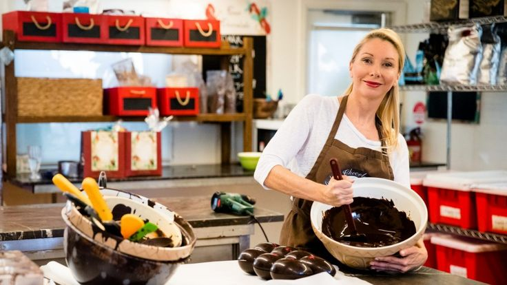 Rebecca Kerswell, from Coco Chocolate, makes sugar-free eggs.