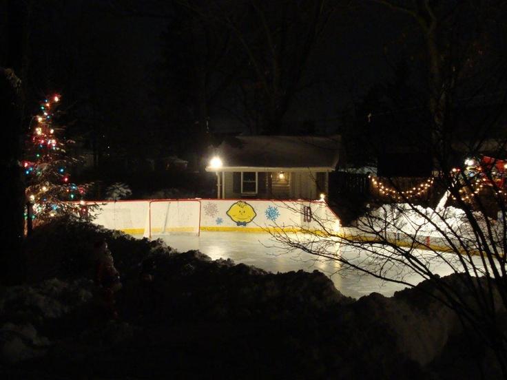 Superbe Very Creative Backyard Ice Rink!
