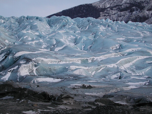 La lengua del glaciar Svínafellsjökull, en Islandia