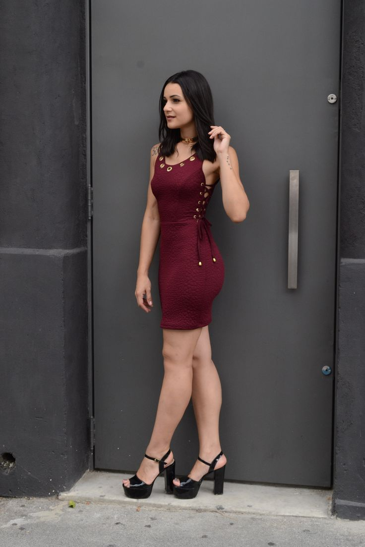vestido tubinho balada marsala- vestido curto- vestido lindo- vestido festa