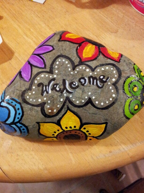 Rock painting doorstop crafts pinterest rock - Painting rocks for garden what kind of paint ...
