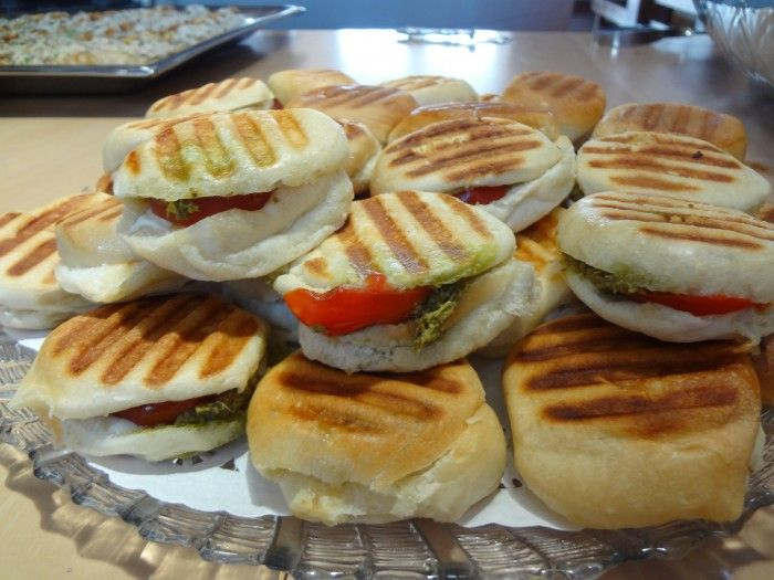 Hors d'oeuvres - Panini Caprese Catering by Debbi Covington - Beaufort, SC www.cateringbydebbicovington.com 843-525-0350