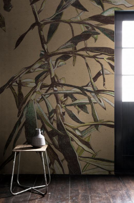 'Olive Tree Leaves' Mural  - Maximalist edit from £195   Shop Cushions & Wall Murals at surfaceview.co.uk