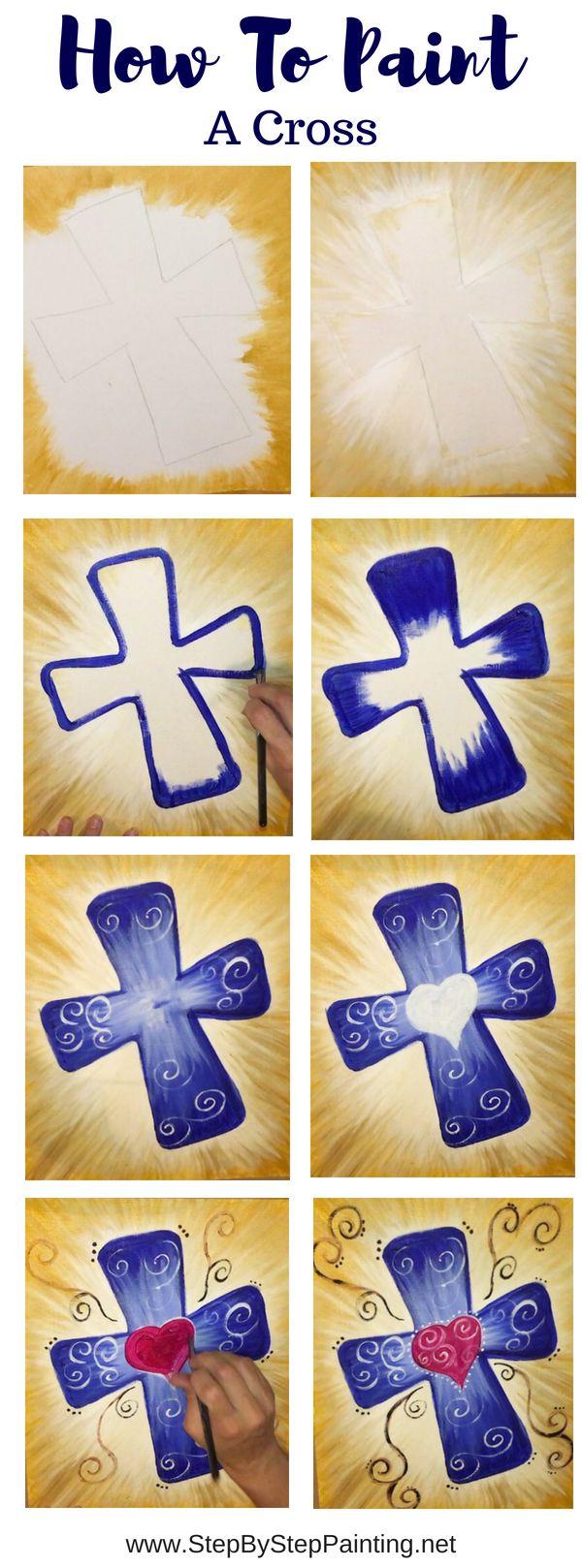 Wie man ein Kreuz auf Leinwand malt