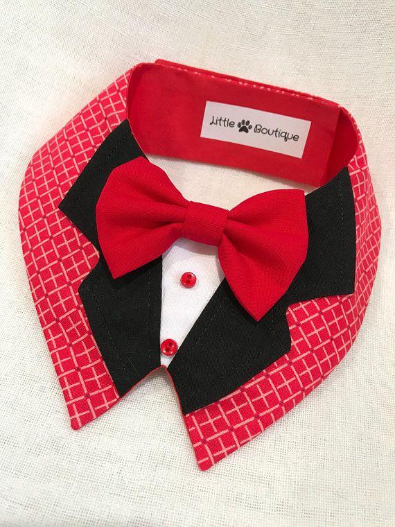 Perro rojo elegante Chalina de patas pequeña Boutique