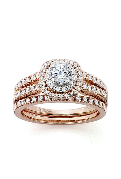 Fancy  Romantic Rose Gold Engagement Rings