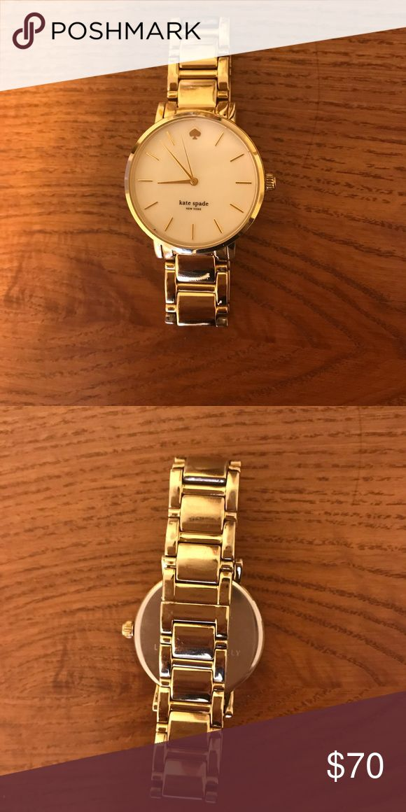 Kate Spade gold watch Good condition gold watch from Kate spade. Classic style. Minimal scratches from wear kate spade Accessories Watches