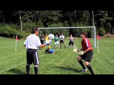 3 soccer goalie drills - catch, attack the ball, grass cutter  http://worldsoccerdrills.com