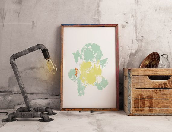 Squirtle  Wall art  Wall decor  Instant di SbarbySweetPrints