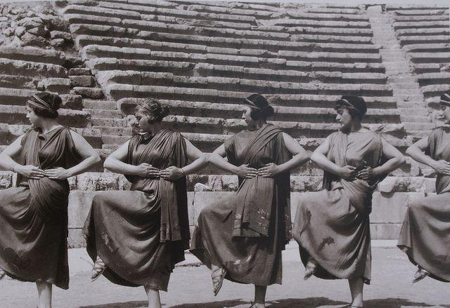 "Nelly (Elli Souyioultzoglou-Seraïdari, 1899-1998), Second Delphic Festival: Aeschylus' ""Prometheus Bound"" directed by Eva Palmer Sikelianos...."