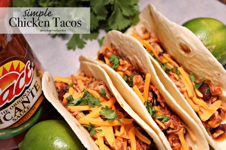 Slow Cooker Chicken Tacos are the perfect touchdown for any party ~ Easy & Delicouse #Recipe #ad http://go.shr.lc/2yHfsb5  #makegametimesaucy