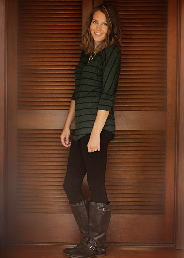 Love this color and style!  Perfect for fall!  Corinna Striped Dolman Top