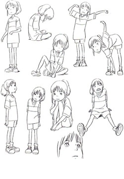 Spirited Away Character pose sheet ✤ || CHARACTER DESIGN REFERENCES | キャラクターデザイン | çizgi film || ✤