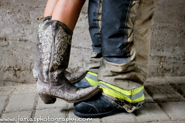 Engagement Pictures Fort Worth Stockyards J Arias Photography Firefighter