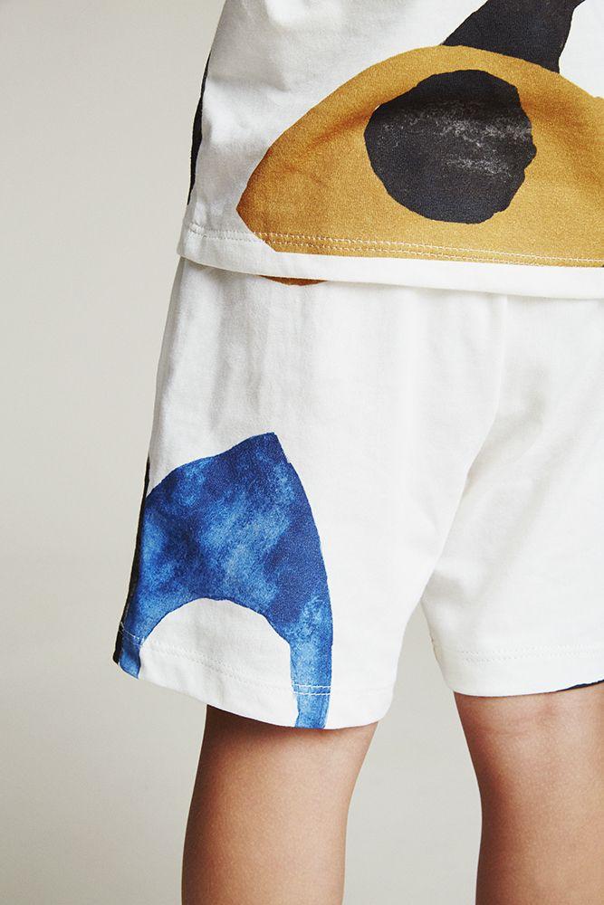 Lookbook SS17    Shorts Eyes - Col. Cream w. Print