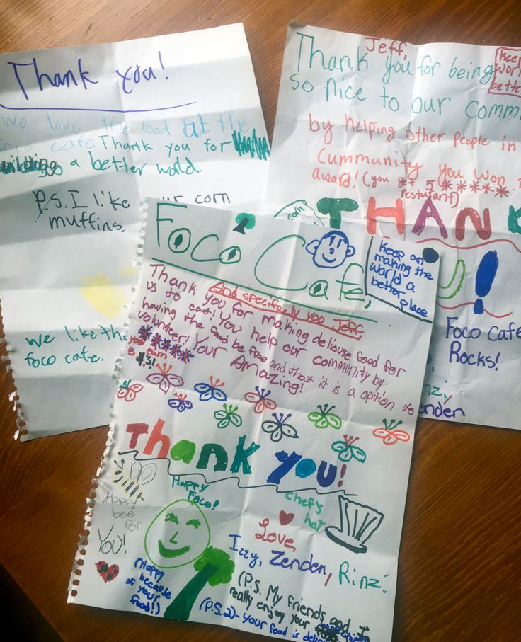 The best notes of encouragement come from young people!