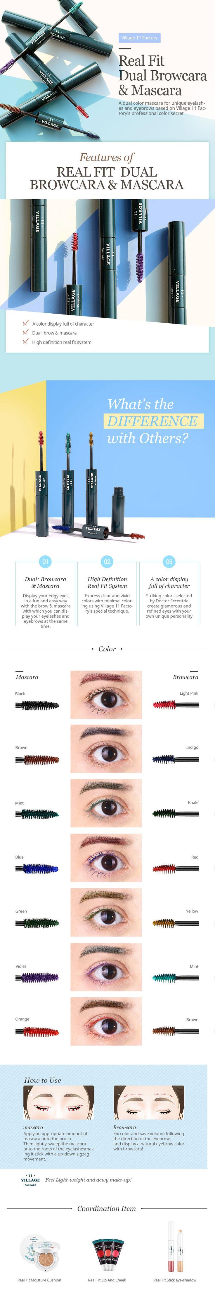 Divertidos colores para cejas y pestañas! Nueva tendencia de la cosmetica coreana~ ANIMATE a dar un look sensacional a tu mirada ^^ #cosmeticacoreana #maquillaje