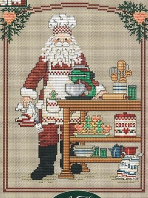 COOKIE SANTA - Counted Cross Stitch Pattern