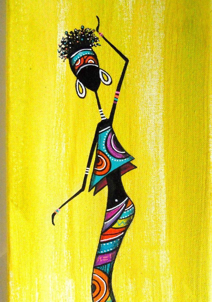 """Tableau ethnique """"Rasta'nimé"""" de toutes couleurs : Peintures par sylphide"""