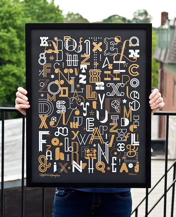 Letters Poster by Ross Moody of Fifty Five Hi's