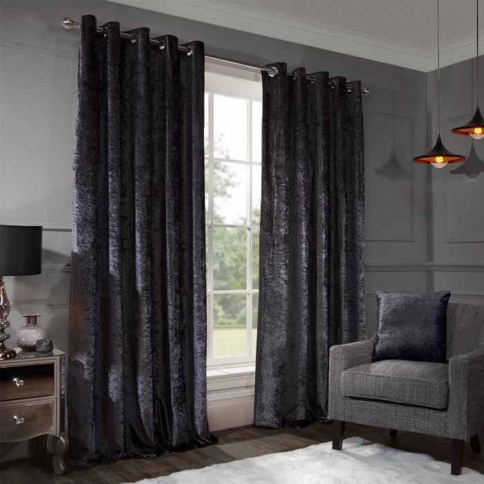 Indulge Your Windows With Our Allure Curtains To Give Your Living Space A Truly Decadent Hollywood Gla Curtains Crushed Velvet Velvet Curtains Pleated Curtains