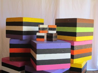 Giant liquorice. Hardened polystyrene. 75cm high. Mini liquorice (30cm). Candy Parties! R35/R55 for 4 days to rent.
