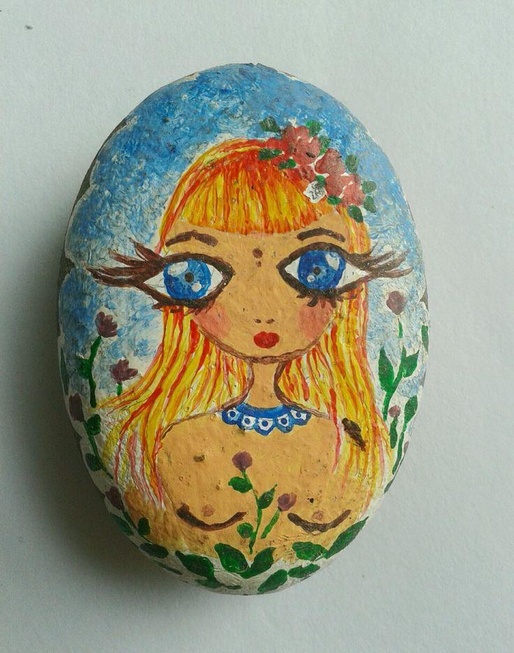 Ilustración: acrilicos sobre piedraa