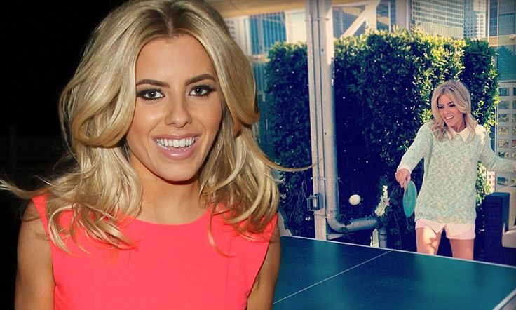 Court in the act! Mollie King tweets a candid photo of herself playing table tennis as she settles back in to L.A life