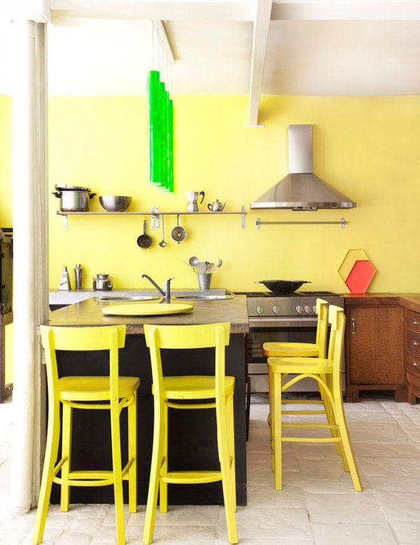 Cuisine jaune inspirations pour une cuisine lumineuse
