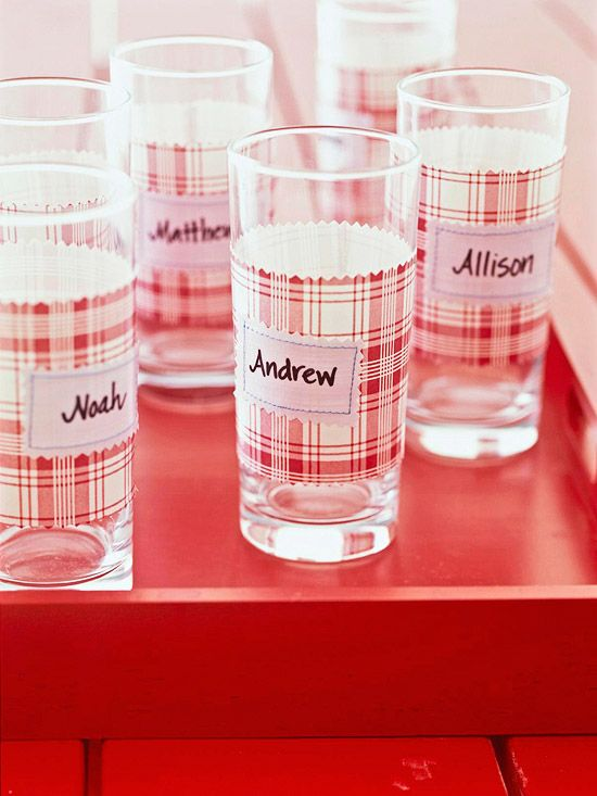 Temporary Glass Labels: Cup, Clear Glass, Buffet, Temporary Glass, Party Ideas, Picnic
