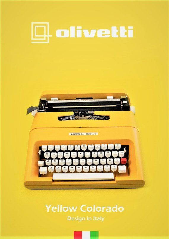 French scale olivetti portable manual typewriter lettera 25 w.