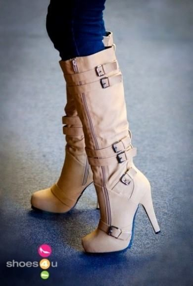 Buckle Knee High Boot                                                                                                                                                      More