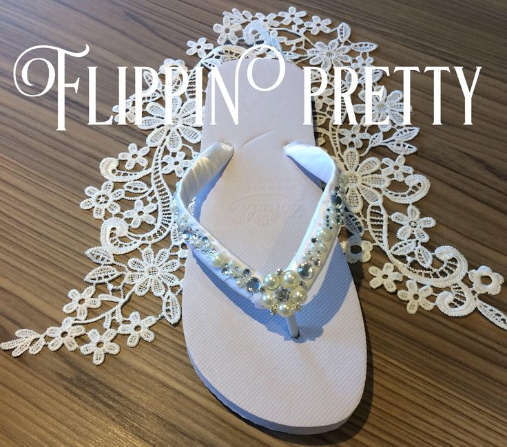 Excited to share the latest addition to my #etsy shop: Bridal Flip Flops, sandals, Beach Wedding, diamante & pearl flip flops, pretty flip flops, wedding shoes, wedding slippers,honeymoon,wedding