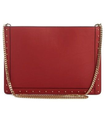 e80a186cce28 Designer Bags - Balmain Mini Domaine Embossed Coin Rouge Calfskin Leather  Cross Body Bag. Get the trendiest Cross Body Bag of the season!