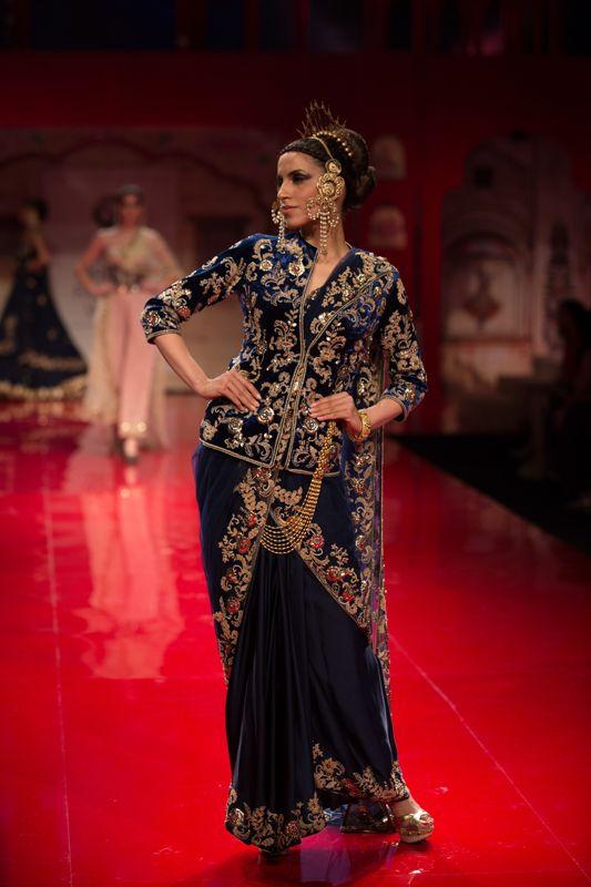 Sari by Suneet Verma at India Bridal Fashion Week 2014