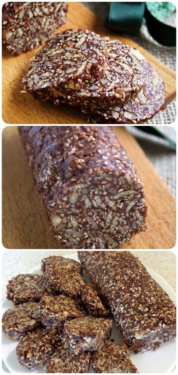 Chocolate salami with nuts and sesame is a magical dessert!