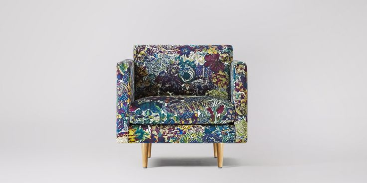 Swoon Editions Chair, contemporary style in Liberty May Anniversary Myriad - £749
