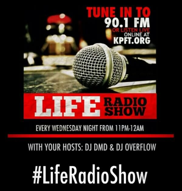 Listen to DJ DMD and DJ Overflow every Wednesday night, streaming at 11:00 PM CST, 90.1 KPFT.org