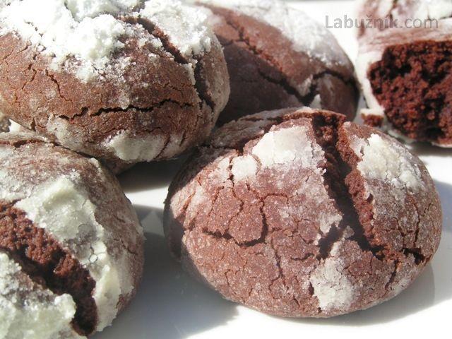 Čokoládové sušenky Black & White - Choco Crinkles