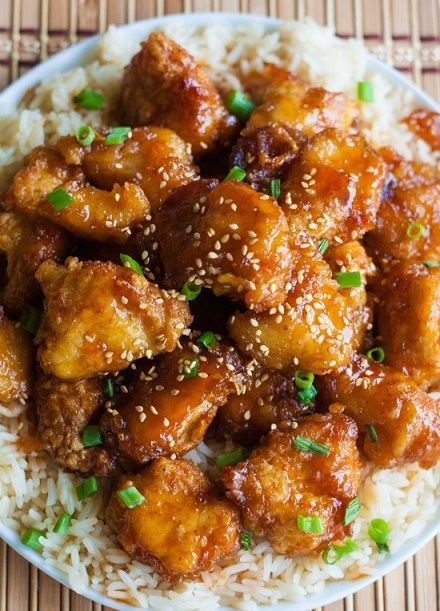 Sesame Chinese Chicken Good easy recipe--I added half sauce to chicken cooked it at higher temp and added red peppers and onions with other half and sautéed in pan, combining in end.