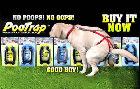 This dog poop contraption: | 19 Absolutely Necessary Products For Lazy People Its all about the Poop!